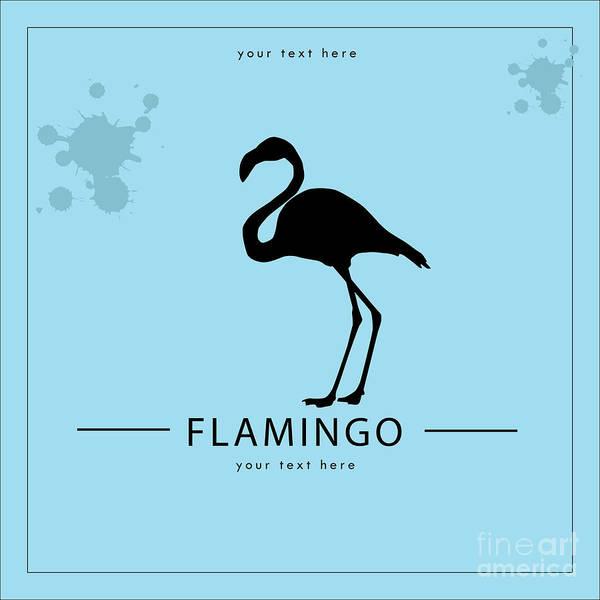 Silhouette Flamingo In The Retro Style Poster