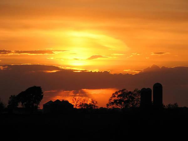 Silo Sunset Poster