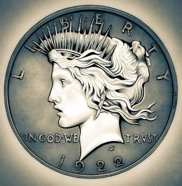1922 Silver Proof Peace Dollar Poster
