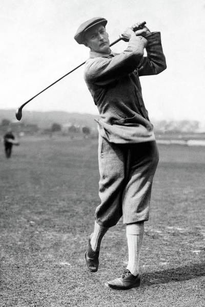 Sir Ernest Holderness Swinging His Club Poster