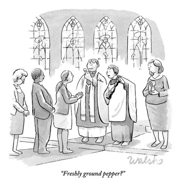 Six People In Church Poster