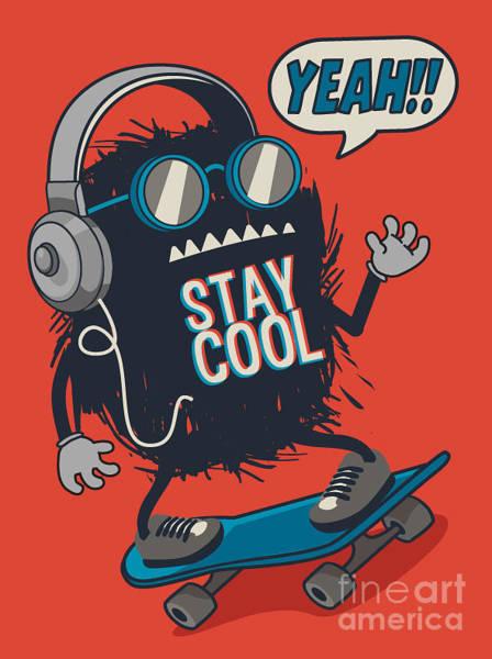 Skater Monster Poster