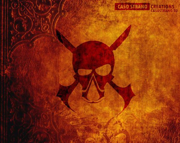Skull Black Flag Poster