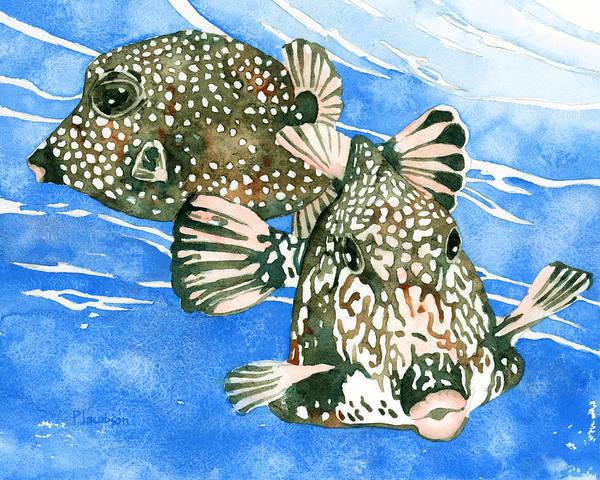 Smooth Trunkfish Pair Poster