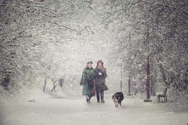 Snow Storm Charm Poster