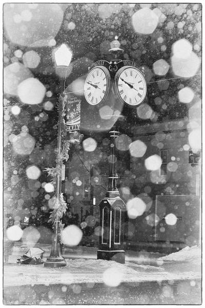 Snow Time Holly Michigan Poster