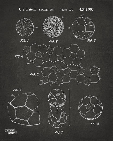 Soccer Ball Construction Artwork - Gray Poster