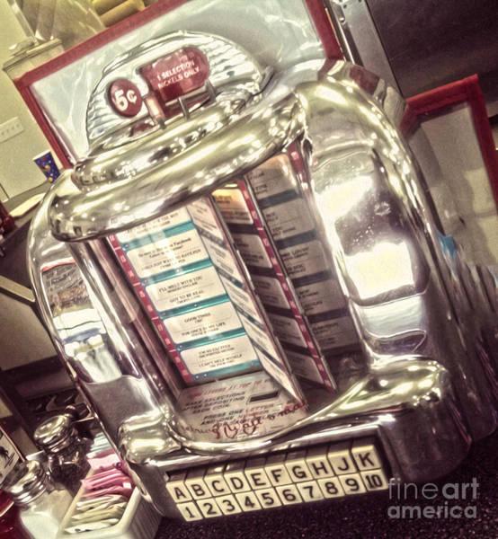 Soda Fountain Juke Box Poster