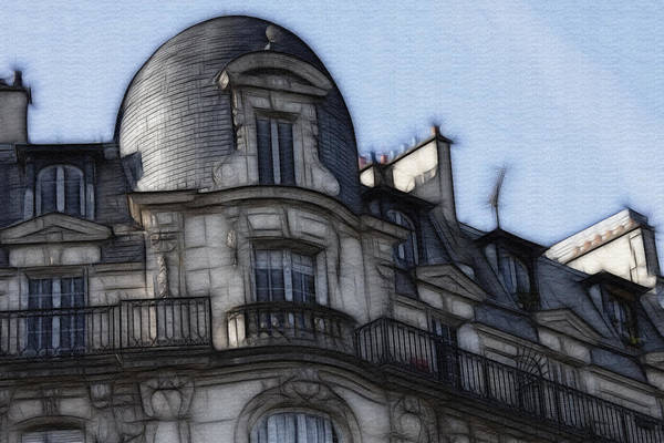 Softer Side Of Paris Architecture Poster