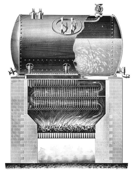 Solignac Mixed Boiler System, 1897 Poster