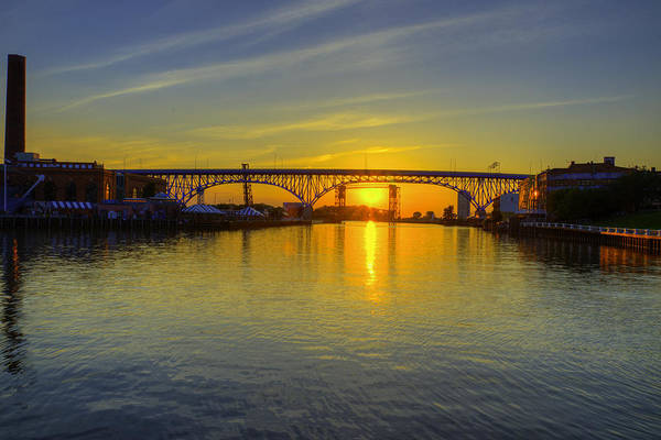 Solstice On The Cuyahoga River Poster