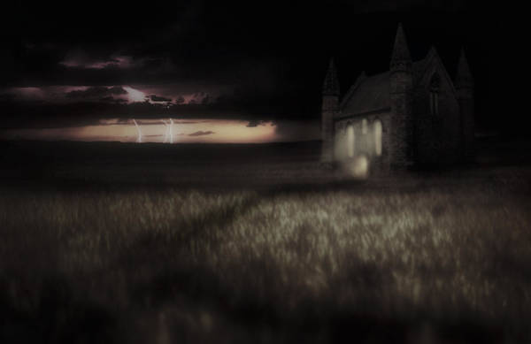 Something Wicked - Lightning - Chapel - Gothic Poster