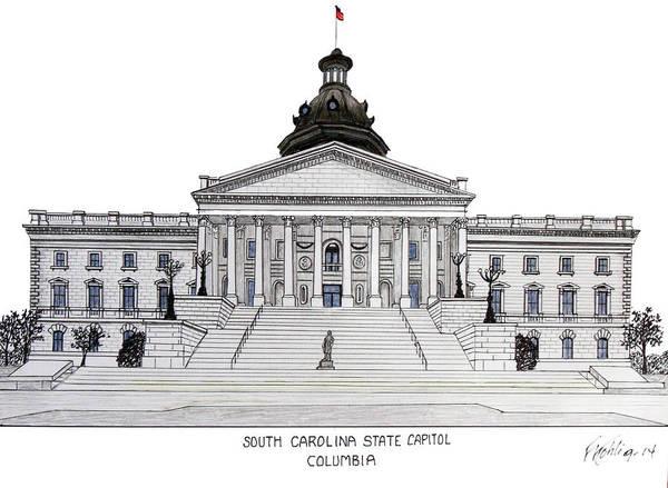 South Carolina State Capitol Poster