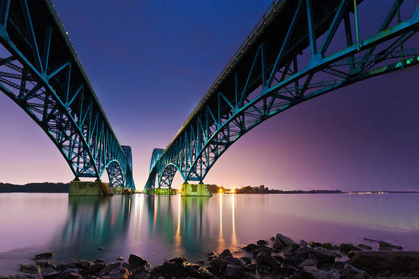 Poster featuring the photograph South Grand Island Bridge by Mihai Andritoiu