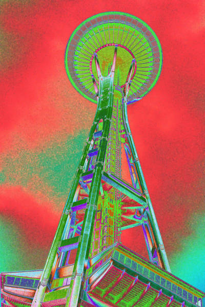 Space Needle On Acid Poster