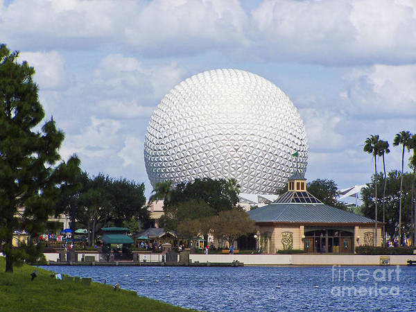 Spaceship Earth At Epcot Poster