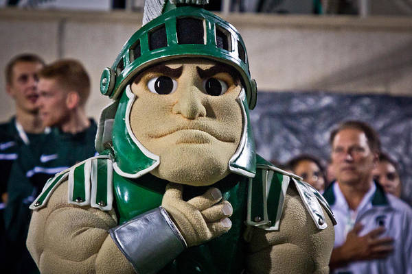 Sparty And Izzo National Anthem  Poster