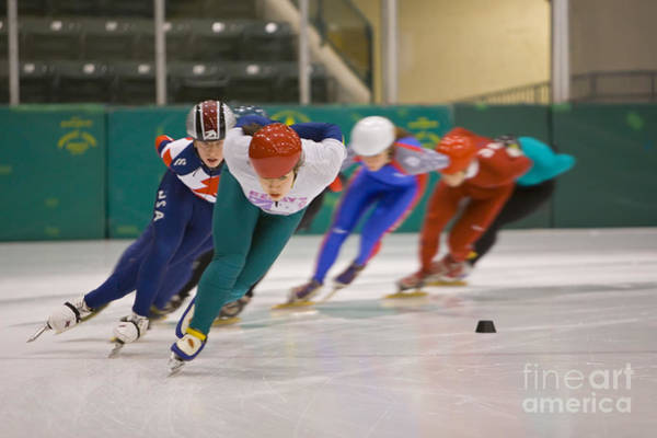 Speed Skaters Poster