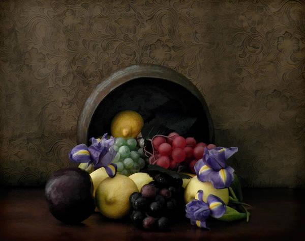 Spilled Fruit Poster