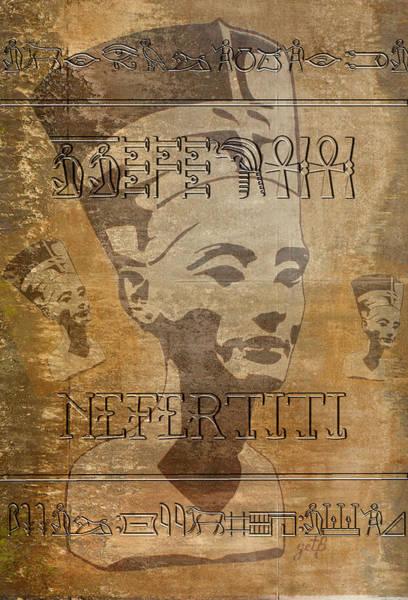 Spirit Of Nefertiti Egyptian Queen   Poster