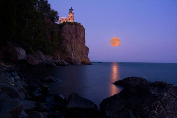 Split Rock Lighthouse - Full Moon Poster