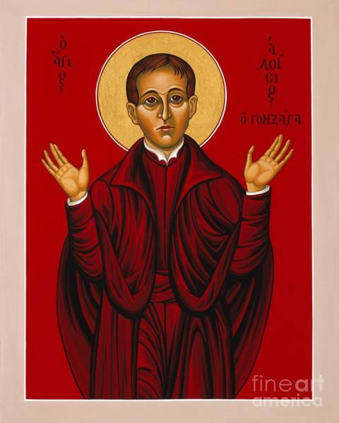 St. Aloysius In The Fire Of Prayer 020 Poster