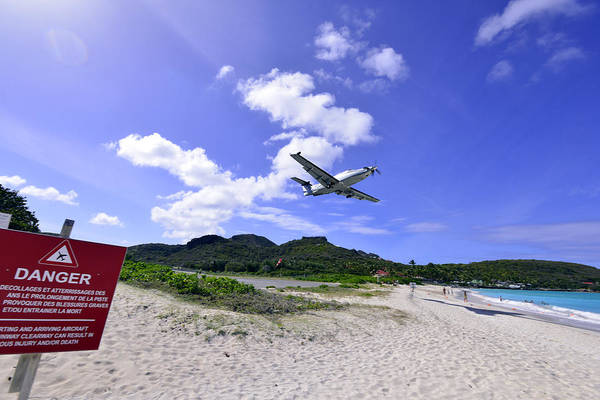St Barts Takeoff Poster