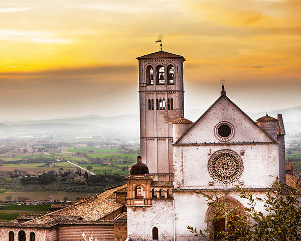 St Francis Of Assisi Church At Sunrise  Poster