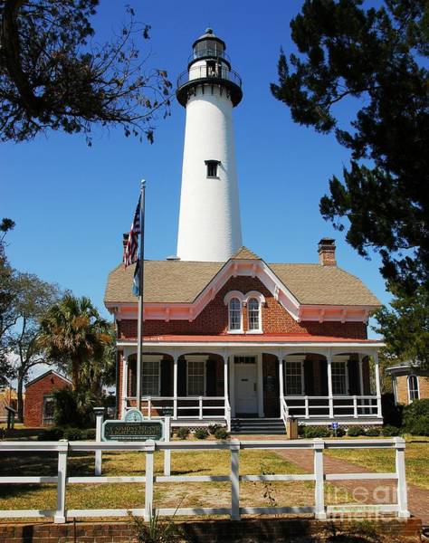 Poster featuring the photograph St. Simons Light by Mel Steinhauer