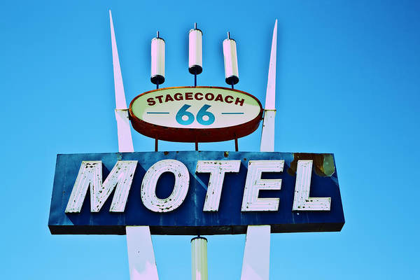 Poster featuring the photograph Stagecoach 66 Motel by Gigi Ebert
