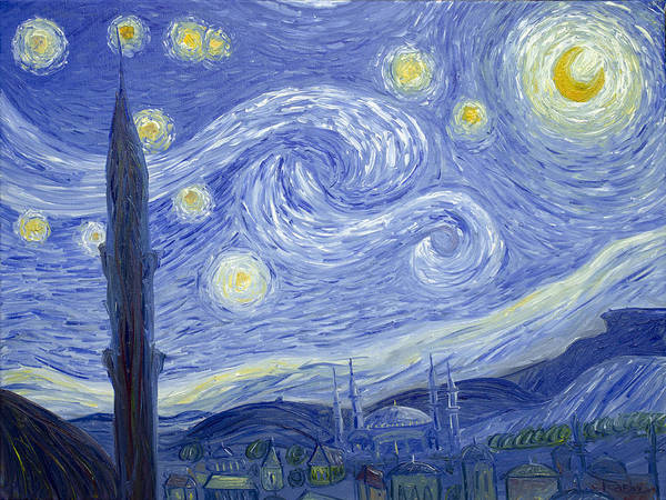Starry Night In Istanbul Poster