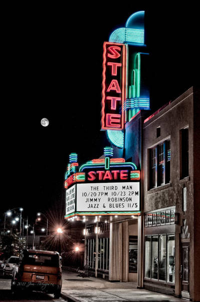 Poster featuring the photograph State Theater by Jim Thompson