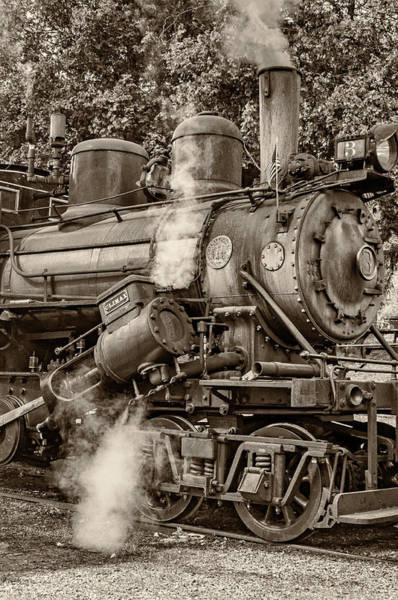 Steam Power Sepia Poster