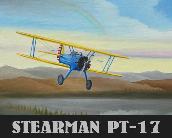 Stearman Pt-17 Training Flight Poster