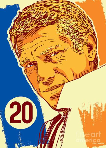 Steve Mcqueen Pop Art - 20 Poster