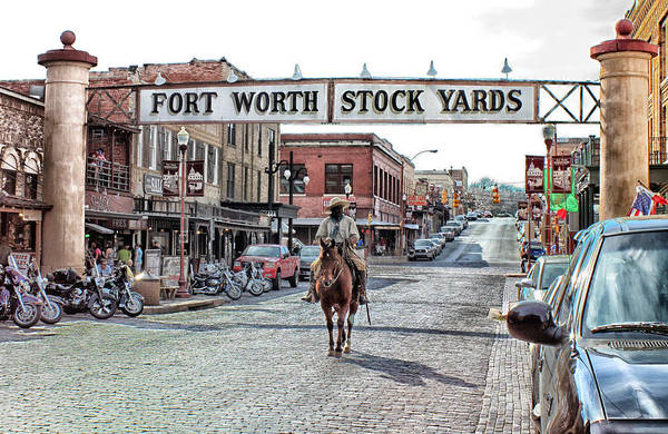 Stockyards Cowboy Poster