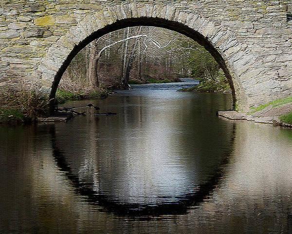 Stone Arch Bridge - Craquelure Texture Poster