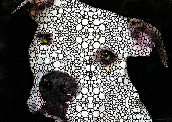 Stone Rock'd Dog By Sharon Cummings Poster