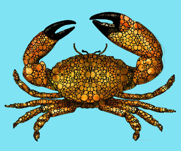 Stone Rock'd Stone Crab By Sharon Cummings Poster