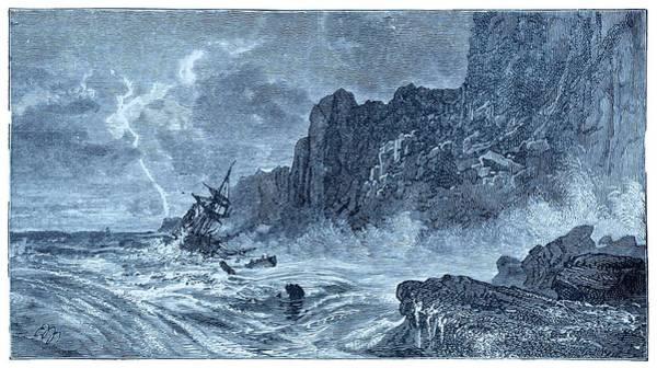 Storm At Sea And Shipwreck Poster