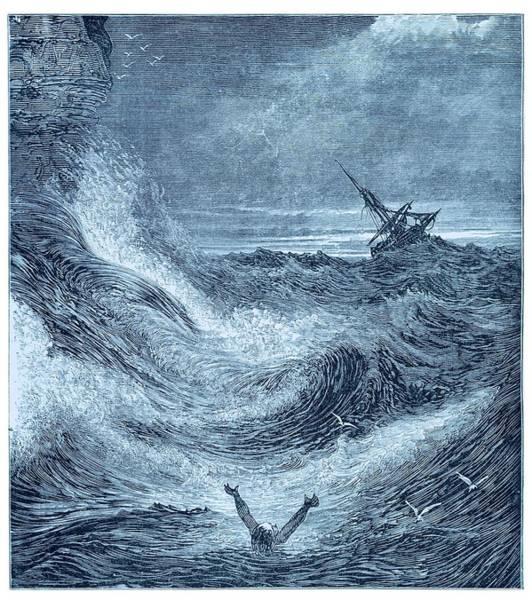 Storm At Sea. Poster