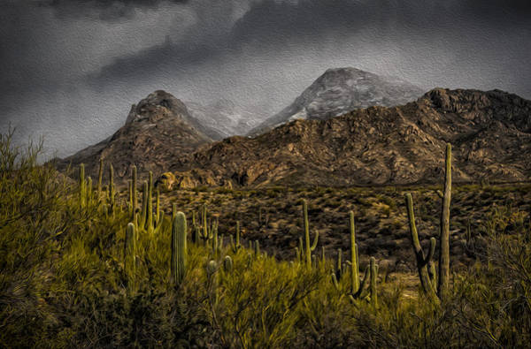 Storm Over Catalinas Aso Poster
