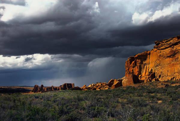 Storm Over Pueblo Bonito Poster