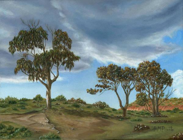 Stormy Eucalyptus Poster
