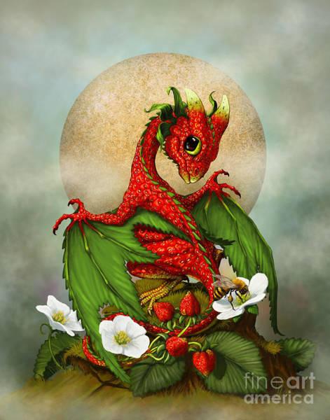 Strawberry Dragon Poster