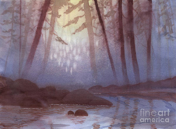 Stream In Mist Poster