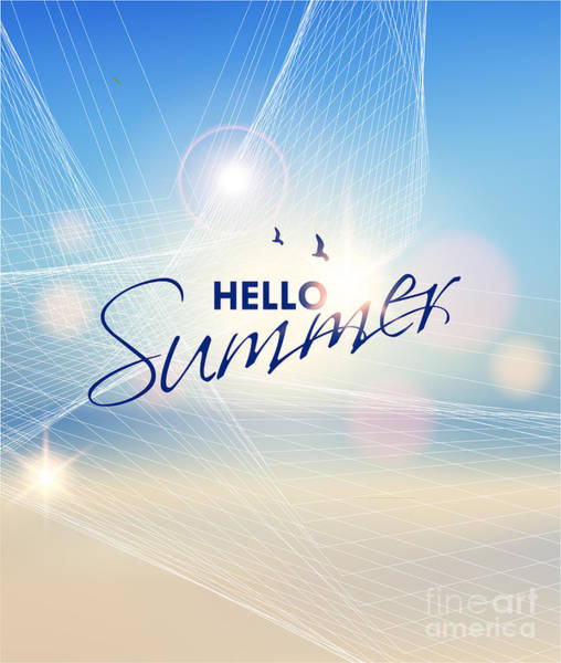 Summer Beach-vector Background Poster