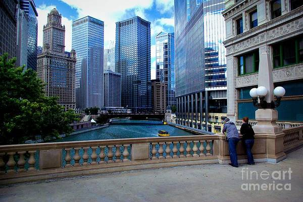 Summer Breeze On The Chicago River - Color Poster