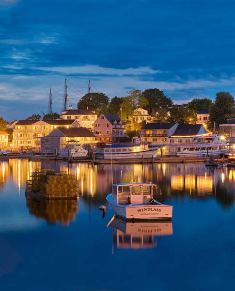 Summer Evening On Boothbay Harbor Poster
