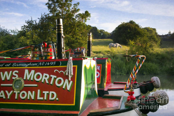 Summer Light On The Grand Union Canal Poster